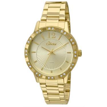 52c2f8d55b Relógio Feminino Condor Analógico CO2035KMN 4D - Dourado