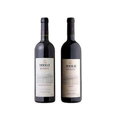 Kit 2x Vinho Brasileiro Tinto Miolo Reserva Cabernet Sauvignon e Merlot 750ml