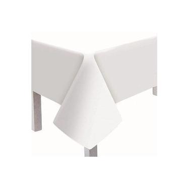 Imagem de 5 Toalha De Mesa Convidados Branca Texturizada 80x80cm
