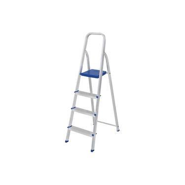 Escada de Alumínio Doméstica 4 Degraus Prima E1204 ALUSTEP