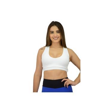 Top Fitness Sustentação Bojo Removível Branco