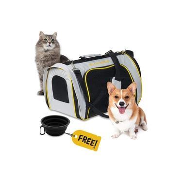 Bolsa Para Transporte de Animais Cães ou Gatos Em Aviões Wet Whiskers