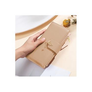 Moda Feminina carteira longa Zipper borboleta longo Buckle Duplo Wallet Fold