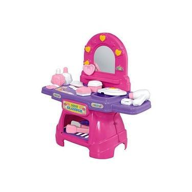 Imagem de Penteadeira Mini Glamour Rosa Com Acessórios Calesita 0330