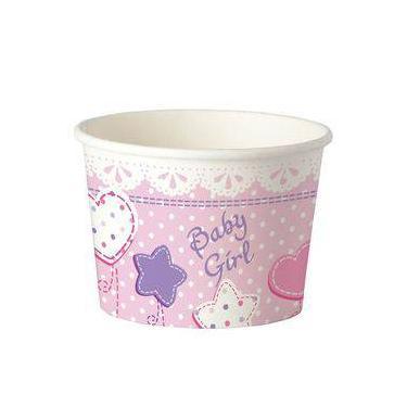 Pote Biodegradável Baby Rosa 480ml 08 Unidades Estilo Pack