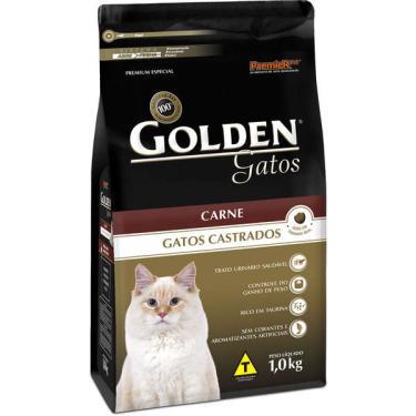 Ração Seca PremieR Pet Golden Carne para Gatos Castrados - 1 Kg