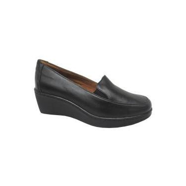 Sapato Anabela Alexxa Opananken 100% Couro 54622