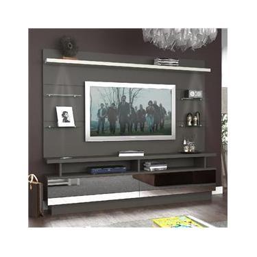 Rack Com Painel Para Tv Até 55 Polegadas 2 Gavetas 104510e Café/branco - Foscarini