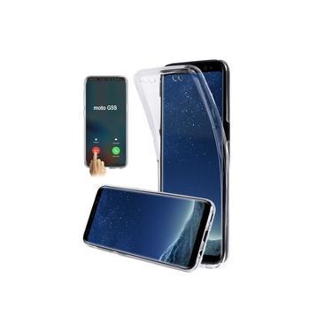 Capa Capinha Case 360º TPU e Acrílico Para Motorola Moto G5S Transparente