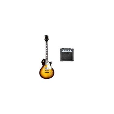 Imagem de Kit Guitarra Les Paul Land Dark Cubo Yx-tg-10