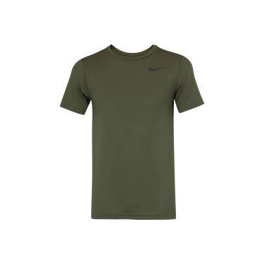 Camiseta Nike Breathe Top SS Vent - Masculina - VERDE ESC PRETO Nike e1a7a81b64080