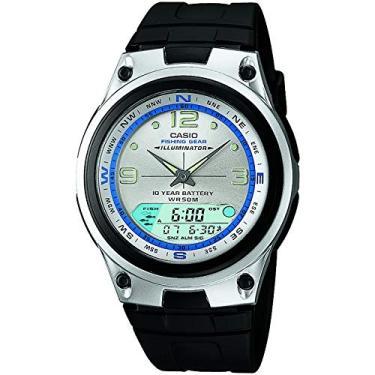 d575ed347e0 Relógio Masculino Anadigi Casio AW827AVDF - Preto Metal