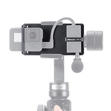 Docooler Placa Ulanzi Pt-6 Switch Mount Placa Vlog Com Mic Adaptador Para Gopro Hero 7 6 5 Para Dji Moza Mini S Zhiyun Suave 4 Vimble 2 Telefone Gimbals