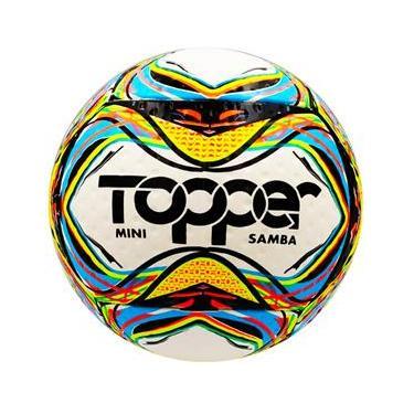 Mini Bola de Futebol de Campo Topper Samba Amador - Colorida