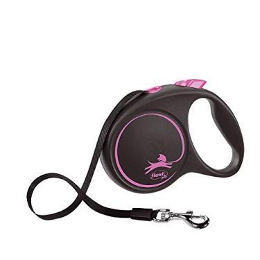 Guia Flexi Black Design Fita G 5m - Rosa