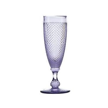 Taças Champagne Bico De Jaca Violeta 120 Ml 6 Peças Bon Gourmet