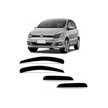 Calha De Chuva Acrílica Volkswagen Fox 2003 A 2018 4 Portas Tiger