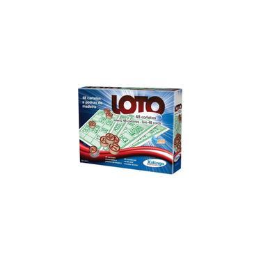 Imagem de Jogos De Bingo Loto 48 Cartelas C/pedra Madeira - Xalingo