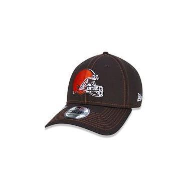 Bone 39Thirty Fechado Nfl On-Field Colecao Sideline Cleveland Browns Marrom Aba Curva Marrom New Era