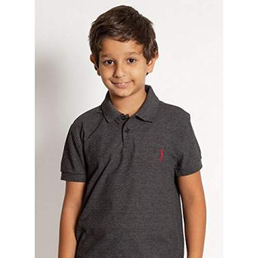 Camisa Polo Aleatory Infantil Básica New Light Mescla-Chumbo-6