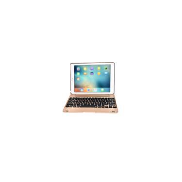 Clamshell Keyboard 9.7inch Tablet Keyboard Keyboard Pro sem fio Para Ipad Ar2 ouro