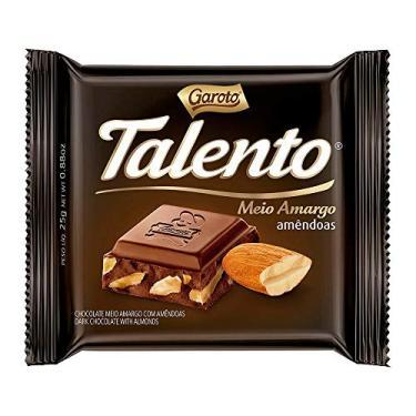 Chocolate GAROTO TALENTO Meio Amargo com Amêndoas 25g