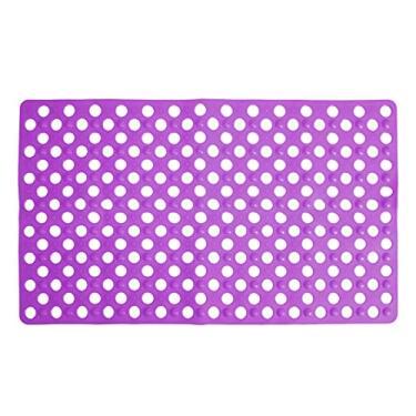 Imagem de Toyvian Tapetes de banheiro antiderrapantes de PVC antiderrapante Tapetes de banheiro para cozinhas, hotéis roxos