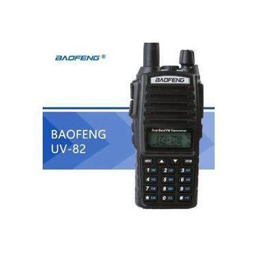 Radio Ht Comunicador Baofeng Dual Band Uv-82 Rádio Fm + Fone