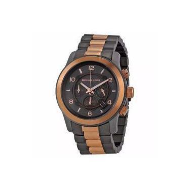 966801032b347 Relógio Masculino Michael Kors MK8189 Rose Preto Cronograph 45mm