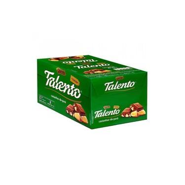 Tablete Talento Verde Castanhas 90g c/12 - Garoto