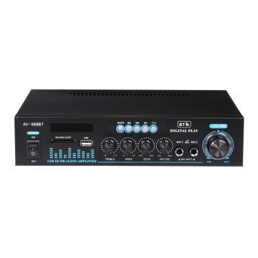1000W HIFI Amplificadores de potência Áudio estéreo Bluetooth Amplificador de som para cinema em casa para carro 220V Banggood