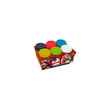 Imagem de Massinha Miraculous LadyBug Kit com 6 Potes - FUN