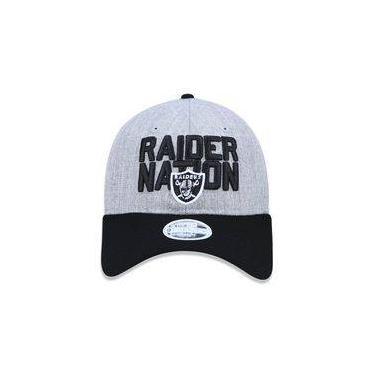Bone 920 Oakland Raiders Nfl Aba Curva Mescla Cinza New Era 4cadc45f32f