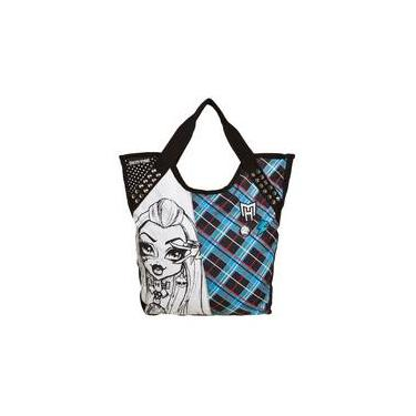 Bolsa Tote Monster High 14t03 Azul E Cinza Sestini