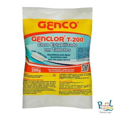 Genclor T-200 Tabletes Cloro Estabilizado Genco