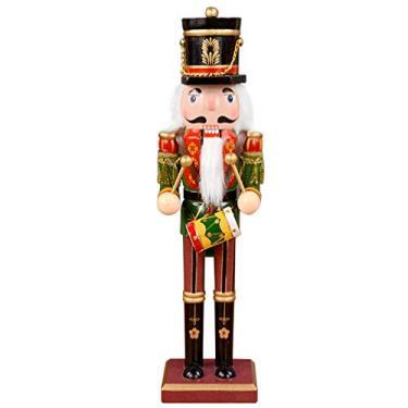 Imagem de KESYOO Bonecos de Quebra-Nozes de Natal Em Madeira Enfeites de Natal Em Madeira Enfeites Artesanais Presentes (Estilo Aleatório 30 Cm)