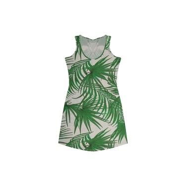 Vestido Adulto Estampa Geométrica Rovitex Verde