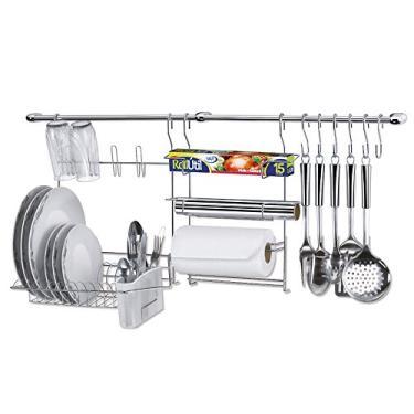 Cook Home 09 Kit Cozinha Escorredor Rolos e Ganchos Arthi 1409
