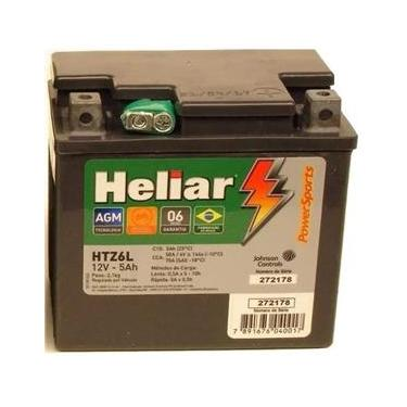 Bateria Moto Heliar Htz6l Cg Fan 125 150 160 Mix Es Ks Esdi