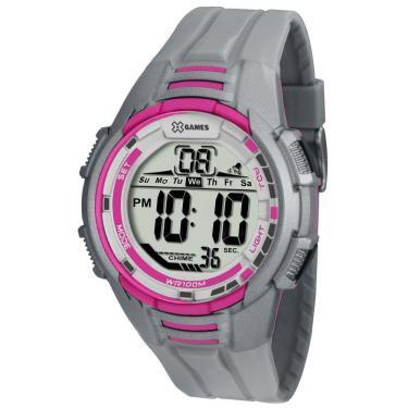 06501ef5eba Relógio Feminino X-Games Digital XMPPD380 BXQX - Rosa Cinza