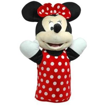 Fantoche de Pelúcia Minnie 28cm Vermelho/Branco Indicado para +4 Anos Multikids - BR935 BR935