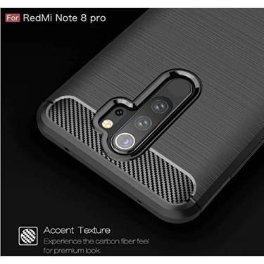 Capa Anti Impacto Armor Militar Ring Xiaomi Redmi Note 8 Pro (Capa Anti Impacto fibra de carbono Preta)