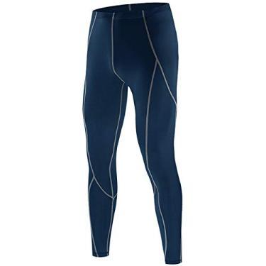 Imagem de Calça de compressão masculina Sports Baselayer Workout Active Collants Leggings Yoga Running Ciclismo Calças Fitness