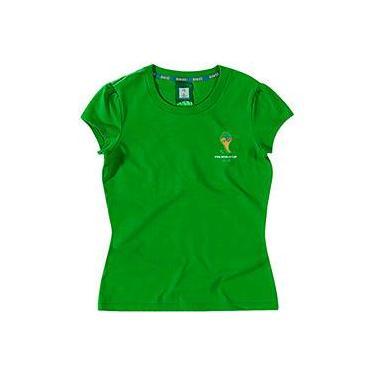 Blusa 2 Verde Bandeira Feminina - Copa do Mundo da FIFA 2014 499d1b8ddcc51