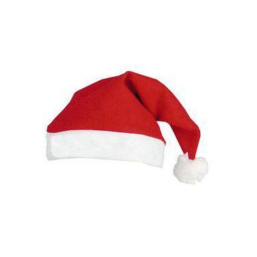 Imagem de Touca De Natal Gorro Papai Noel Kit Com 12 Peças