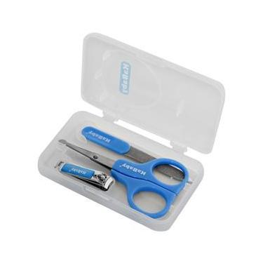 Kit Manicure para Bebê com Estojo KaBaby 20001 - Azul