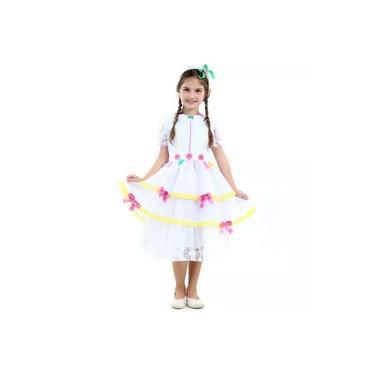 Imagem de Vestido de Festa Junina Infantil Noiva Caipira Noiva Luxo