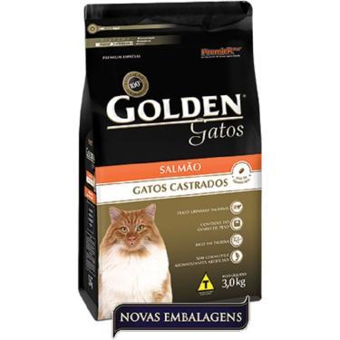Ração Golden Gato Adulto Castrado - Salmão - 3Kg