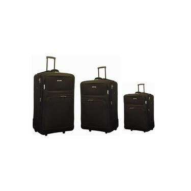 Conjunto Mala De Viagem Extra Grande Com 3 Malas Tamanhos 32,28 E 20 Extra Grande, Grande E Pequena Kit Expansivel Com Mala De Bordo Suit Kangur