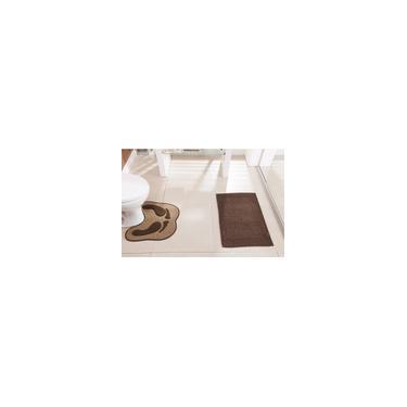 Imagem de Tapetes para Banheiro 2 peças Antiderrapantes Feltro Floor